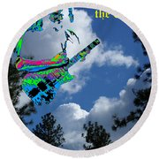 Music Up In The Clouds Round Beach Towel