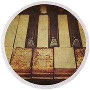 Musical Fingerprints Round Beach Towel