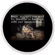 Musical Inspiration Round Beach Towel