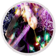 Musical Lights Round Beach Towel