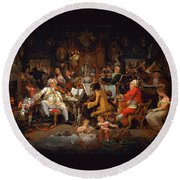 Musicians Of The Old School Round Beach Towel