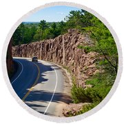Muskoka Drive Through Round Beach Towel