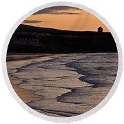 Mussenden Sunset Round Beach Towel