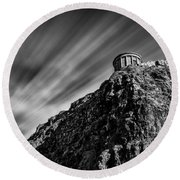 Mussenden Temple - On The Edge Round Beach Towel