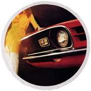 Mustang '70 Round Beach Towel
