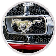 Mustang Grill Round Beach Towel