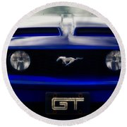 Mustang Gt Round Beach Towel