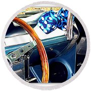 Mustang Interior Round Beach Towel
