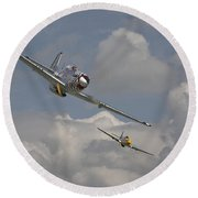 Mustang Pair Round Beach Towel by Pat Speirs