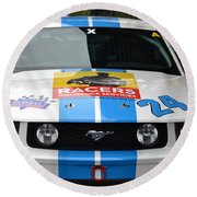 Mustang Race Car Round Beach Towel