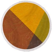 Mustard And Pickle Round Beach Towel