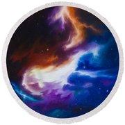 Mutara Nebula Round Beach Towel by James Christopher Hill