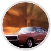 My 70 Charger 440 Six Pack Round Beach Towel