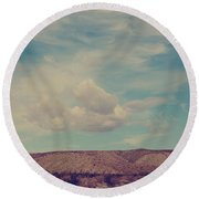 My Angel Round Beach Towel by Laurie Search