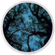 My Blue Dark Forest Round Beach Towel