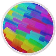 My Box Of Color Round Beach Towel