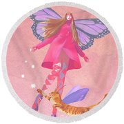 My Colored Dreams Round Beach Towel