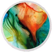 My Cup Runneth Over - Abstract Art By Sharon Cummings Round Beach Towel