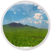 My Earth Our Earth... Round Beach Towel