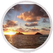 My Endless Love Round Beach Towel