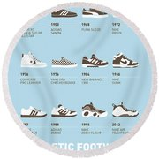 My Evolution Sneaker Minimal Poster Round Beach Towel
