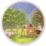 My Family And Other Animals Round Beach Towel
