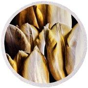 My Favorite Tulips Round Beach Towel