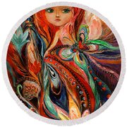 My Fiery Fairy Gwendolyn Round Beach Towel