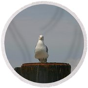 My Front Profile Round Beach Towel