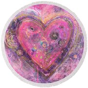 My Heart Of Circles Round Beach Towel