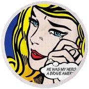 My Hero Round Beach Towel by Gary Grayson