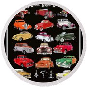 Hot Rod Ford Poster Round Beach Towel