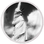 My Lady Liberty Round Beach Towel