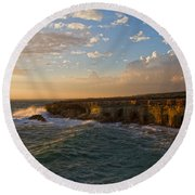 My Land Is The Sea Round Beach Towel