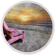 My Life As A Beach Chair Round Beach Towel
