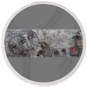 My Love Is Unconditional Round Beach Towel