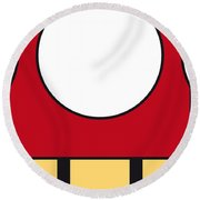My Mariobros Fig 05a Minimal Poster Round Beach Towel by Chungkong Art