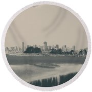 My Mind Knows No Quiet Round Beach Towel by Laurie Search