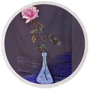 My Mothers Rose Round Beach Towel