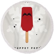 My Muppet Ice Pop - Animal Round Beach Towel