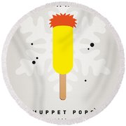 My Muppet Ice Pop - Beaker Round Beach Towel