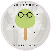 My Muppet Ice Pop - Dr Bunsen Honeydew Round Beach Towel