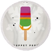 My Muppet Ice Pop - Dr Teeth Round Beach Towel by Chungkong Art