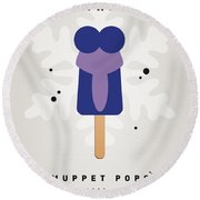 My Muppet Ice Pop - Gonzo Round Beach Towel