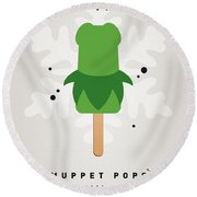 My Muppet Ice Pop - Kermit Round Beach Towel