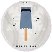 My Muppet Ice Pop - Sam The Eagle Round Beach Towel