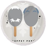 My Muppet Ice Pop - Statler And Waldorf Round Beach Towel