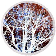 My Neighbor's Tree II Round Beach Towel