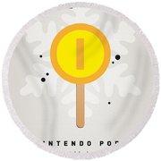 My Nintendo Ice Pop - Gold Coin Round Beach Towel