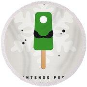 My Nintendo Ice Pop - Luigi Round Beach Towel